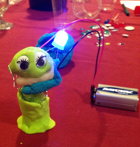 Getting creative with Squishy Circuits: Alien Lady Gaga